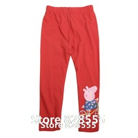 Calca Jeans Peppa Pant Autumn Summer Embroidery Kids Pants With Baby Girl Long Trousers Baby Pant For Peppa Pig Vestido Bebe