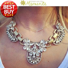 2014 New Fashion Chain Choker Shourouk Vintage Rhinestone Alloy Gem Ethnic Bib Statement Necklaces & Pendants Women Jewelry Gift(China (Mainland))