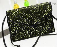 2014 vintage national women's trend handbag cutout envelope bag day clutch bag shoulder bag women messenger bags