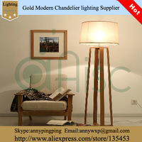 Hot Sale Cheap American Style The Logs Four Stand Solid Wood And Fabric Lampshade Floor Lamp,stand lamp for home