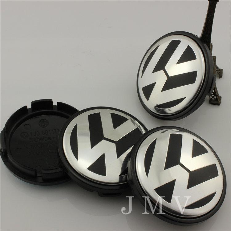 [ON SALE] 56mm Convex VW Volkswagen Wheel Center Cap Emblem Badge P/N 1J0601171 For Polo Santana Golf Beetle Volkswagen Hub Cap(China (Mainland))