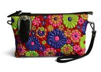 2014 fashion national genuine leather floral clutch bag women handbags shoulder bag desigual sheepskin women messenger bags