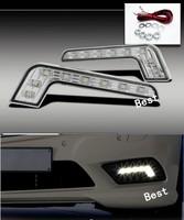 Fashion Cool Style L Shape LED White Daytime Driving Running Light Fog Lamp For Mazda 3 6 X5 X5 M5 Toyota Honda Opel Ford VW