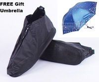 4 colors 3 size Free shipping PVC Portable Reusable rain shoes cover cycling shoes covers overshoes +  umbrellas $12.99