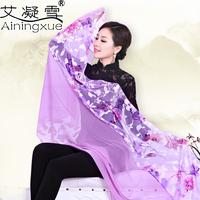 175*80cm 2014 spring and autumn silk scarf quality women's chiffon long scarf large cape big shawl