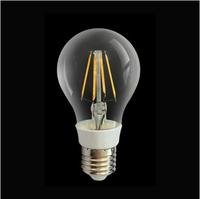 New technology Filament LED chip globe bulb lamp  6W 120V  220V E27 glass clear cover warm/cool white bubble ball lights
