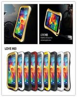 Original Love Mei  Waterproof Waist Metal Case For Galaxy S5 i9600 + Gorilla Glass,MOQ:1pcs + Free Shipping