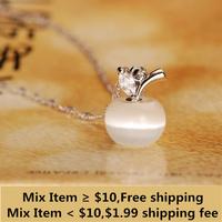 Necklaces & Pendants Fashion Apple Shape Crystal Necklace Made Of Necklaces & Pendants Wholesale Retail Factory Lowest Price