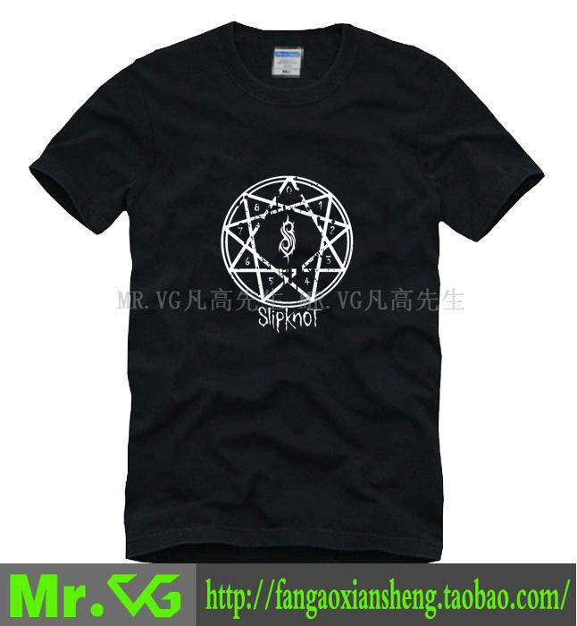 Novo 2014 grátis frete padrões de geometria SLIPKNOT nove números heavy metal algumas roupas homem homens macho T-shirt esportes plus size(China (Mainland))