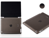 2014 Brazil Fashion Design Magnetic Smart Cover +Crystal Hard Back for Apple ipad 4 3 2 for ipad 4 ipad 3 ipad 2 Case