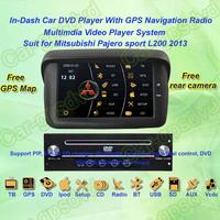 2013 Mitsubishi Pajero sport L200 GPS Navigation DVD Player ,TV,Multimedia Video Player system+Free GPS map+Free shipping!!!