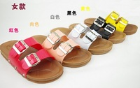 Atl waterproof shoes at home double buckles soft outsole slippers lovers word slippers bathroom slip-resistant