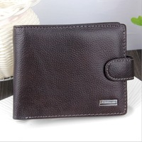 Free Shipping!New  High Quality Men Short Genuine Leather Cowhide Wallet Fashion Men Purses Men Wallets  C3219