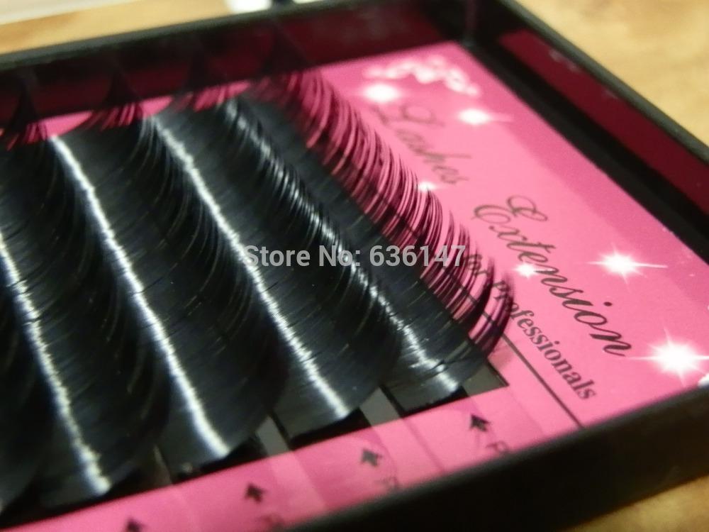 Boîte de cils de vison 10 0.15c( 8- 16mm) extension. super souple noir type curl cils artificiels cils cils faux faux