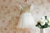 New - wholesale ! Girls summer sequins tutu dress , dresses baby girl ,girls lace dress 5pcs/lot
