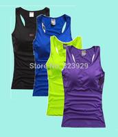 Brand Sports Tank Tops For Women Fitness Sport T-shirt Yoga Vest Tennis Tanks Top With Belt Pad Jogging Tank Tops shirts