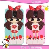 For samsung s5 phone case for SAMSUNG galaxy s5 mobile phone case for samsung i9600 protective case silica gel set cartoon