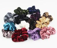 Retail 6PCS Velvet Hair Scrunchies elastic Spring Hair Bands Ties Ponytail Holder Free Shipping