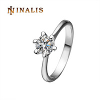 Free Shipping(Min Order is $10) 2014 NEW Platinum Plated Clear Crystal Ring, 18K Gold Plated Ring, Rhinestone SWA Elements, R252