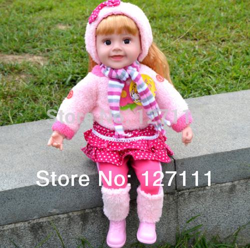 Free shipping Genuine speaking english Talking Doll music / sound / recording / smart dialogue / touch talk / blinking eye(China (Mainland))