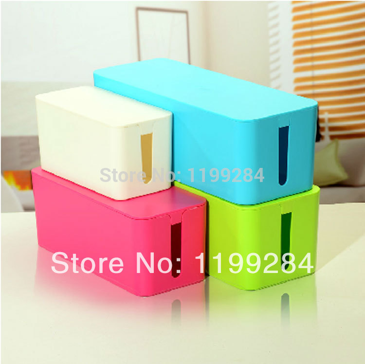 S M L Plastic Wire Storage Box Cable Manager Organizer Box Power Line Storage Cases Junction Box Household Necessities CT030(China (Mainland))