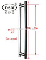 Wooden Door Handle PA-112-45*25*800mm Glass Door Handle Stainless Steel Pull Handle Brushed Door Knob