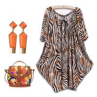 2Color 3XL 4XL 5XL 6XL Plus Size Casual Sexy Women Stripe Dress Novelty Big Large Oversize XXXXL XXXXXXL 8XL 2014 New Summer