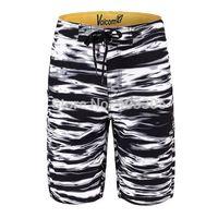 BRAND NEW 4-Way Stretch BOARDSHORTS Mens Black Striped Bermuda Swim Trunks Surf Shorts 30 32 34 36 38 Beach Shorts FREE SHIPPING