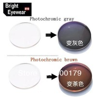 1.61 Photochromic Gray & Brown Transition HMC UV AR Unisex CR-39 resin eyeglasses prescription RX lenses for myopia &astigmatism