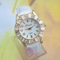 2014 new fashion good quality women rhinestone watches lady girl crystal simple white dial Quartz wrist Watch Wristwatch hour