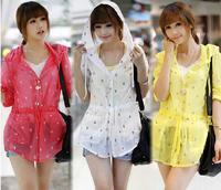 Summer plus size sun protection clothing women's thin sunscreen long-sleeve shirt medium-long breathable anti-uv sun protection