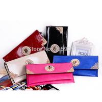 New arrival fashion RHINESTONE LOCK  handbag hot-selling PU leather chain one shoulder bags women's messenger bag day clutch