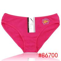 Hot plain color briefs women cotton panties comfort cotton briefs underwear intimatewear  12pcs/lot
