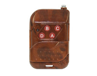 200 meters wireless remote controller with 4 keys,Peach wooden pattern style