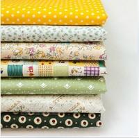 45*50cm 7 piece/lot Lovely yellow green Series cartoon cotton cloth handmade cloth DIY fabric Patchwork cloth sewing cloth