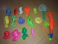 Free shipping  magnetic swimming toys baby magnet fishing toy 3 child fishing toy--16pcs/set