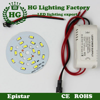 One 3W 5W 7W 9W 12W 15W 18W 20W 24W 5630/ 5730 SMD Light Board Led Lamp Panel For Ceiling PCB + One LED power supply Led driver