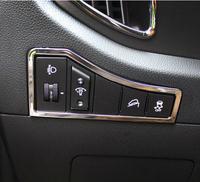 For 2013 2014 Kia Sportage R Multifunction button decorative box cover ABS Chrome trim accessories