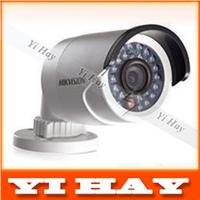 2014 free shipping  Hikvision Original infrared gun waterproof network camera DS-2CD2032-I 3MP IR ip camera support POE