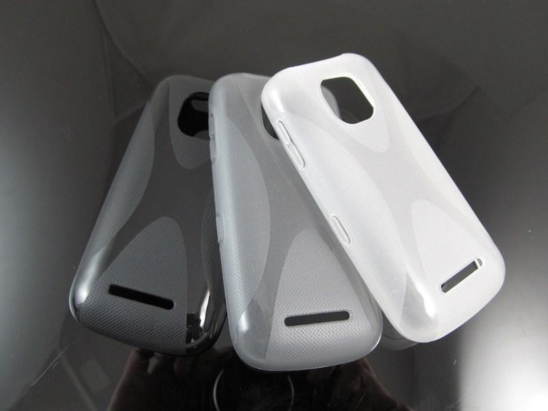 New Nokia Asha Phone 2014 1pcs 2014 New x Line Soft Tpu Case Back Cover For Nokia Asha 311