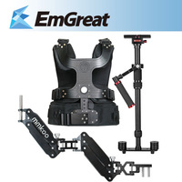New MMKOO Black Night stabilizer steadicam Double Arm 1-7KG For DSLR Camera P0010286 Free Shipping
