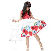 Free shipping 2014 summer new arrivales girls dress one-piece dress girls princess dress