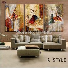 bailarinos direto do artista 100% pintados à mão pintura a óleo moderna abstrata sobre tela arte da parede decoração th146 top home(China (Mainland))