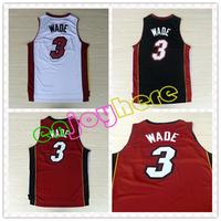 Fast Free Shipping, Cheap Basketball Jersey Embroidery Logos #3 Dwyane Wade Jersey Basketball Jerseys