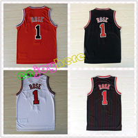 New Arrival Cheap Basketball Jersey Chicago #1 Derrick Rose Jersey Embroidery Logos All Colors Free Shipping