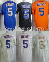 Free Ship cheap  #5 David Wright Blue White Black Camo Cream Orange Baseball Jersey, Name Number All Stitched