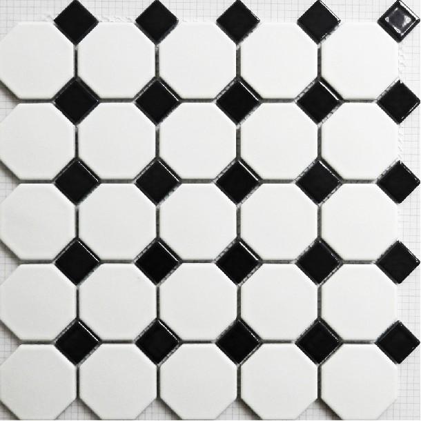 Vloertegels Keuken Kopen : Black and White Mosaic Floor Tile