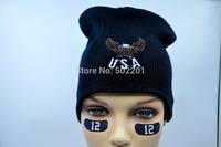 100% acrylic gorros cap 3D embroidery USA gorro eagle womens beanie for men
