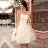 Becautiful Flowers Short Prom Evening Dress Bridal Gown Vestido De Novia u0060