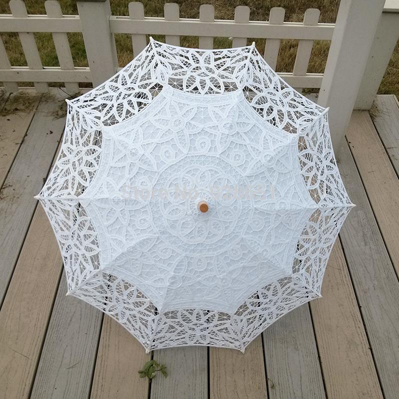 """30"""" blanc lacet fashional brodé dentelle parasol parasol mariage mariée demoiselle d'honneur décoration de fête la livraison gratuite"""